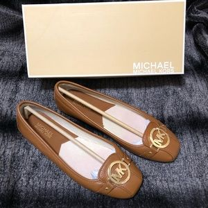 MICHAEL MICHAEL KORS Fulton Brown Leather Moccasin